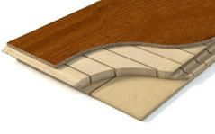 Engineered floor cross-section