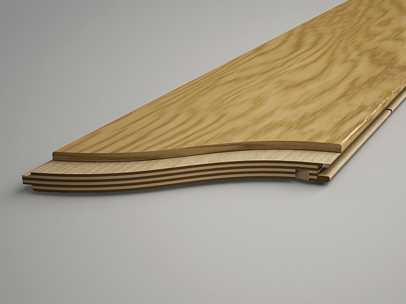 Multi-layered floor cross-section